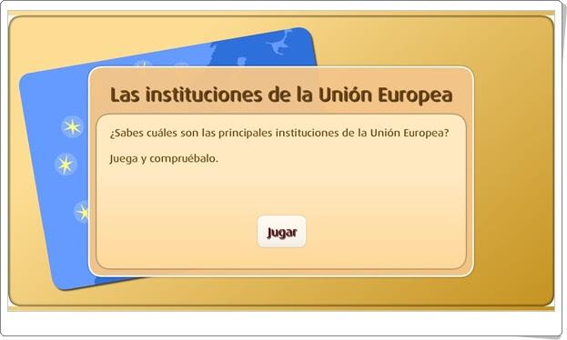"""""""Las instituciones de la Unión Europea"""" (Actividad interactiva de Ciencias Sociales de Primaria)"""