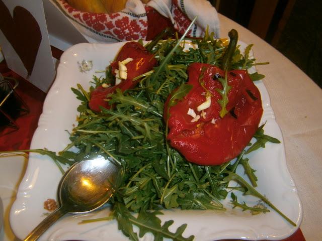 rukkola  & sültpaprika saláta