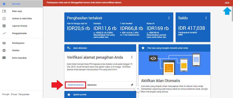 Kirim Ulang PIN Alamat Publisher Google Adsense Tutorial Meminta Kirim Ulang PIN Google Adsense Baru untuk Verifikasi Alamat