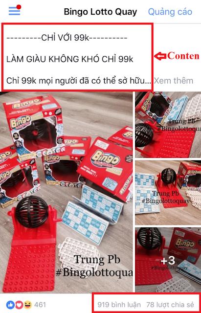 Bingo Lotto Quay tay - bán hàng Online trên Facebook