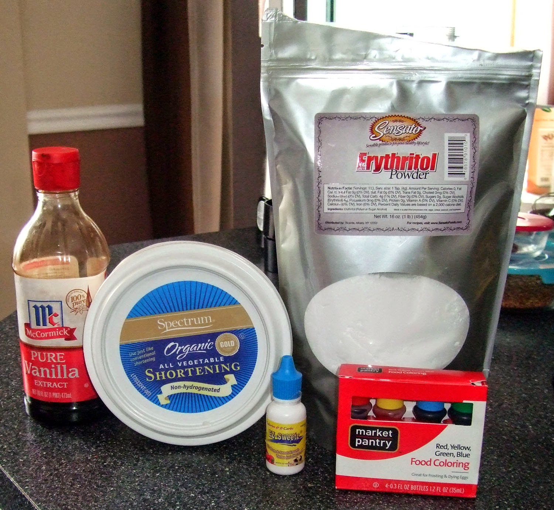 Frosting Bomb Ingredients.