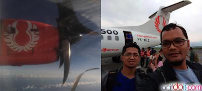 Mau ambil foto ndak asik karena jendela kotor & kedatangan di bandara Abd.Shaleh