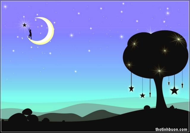 trèo lên trăng để hái sao tặng người