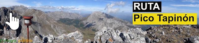 Ruta de montaña detallada al Pico Tapinón en el Macizo de Ubiña
