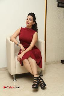 Telugu Tollywood Anchor Manjusha Pos in Red Short Dress  0116.JPG