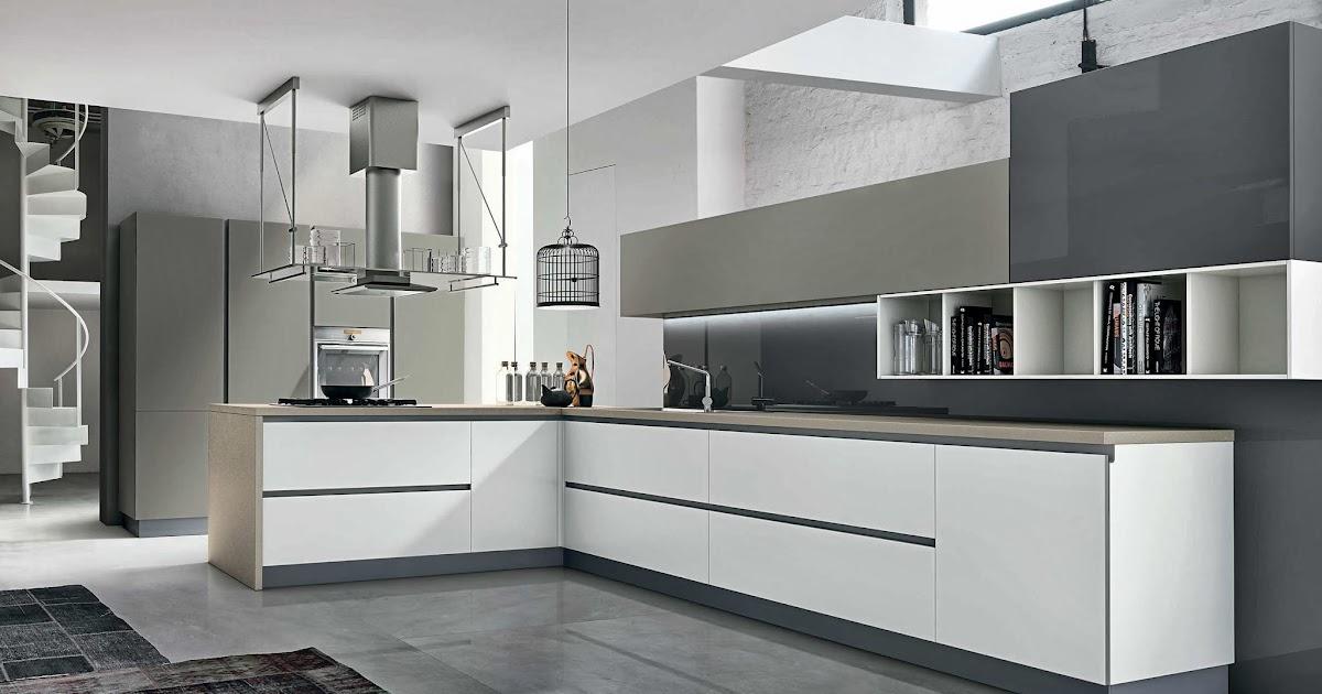 cuisine design blanc et taupe. Black Bedroom Furniture Sets. Home Design Ideas