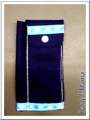 Stiftetasche Filz blau