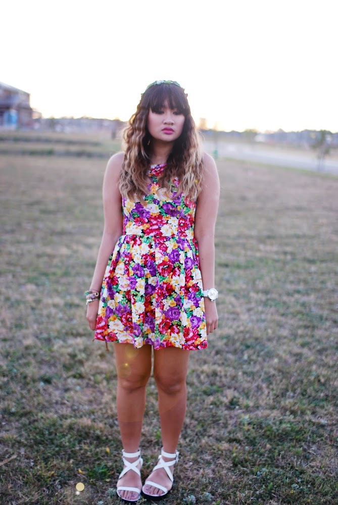 Blue Jade Fashion Floral dress Cali and Cale Sandals