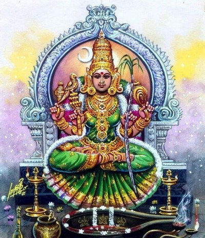 Hindu Goddess tripura sundari mata wallpaper