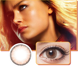 captain marvel cosplay colored contacts