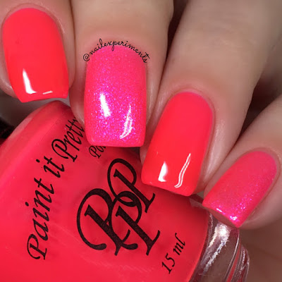Paint it pretty polish triple line clear swatch tetris neons