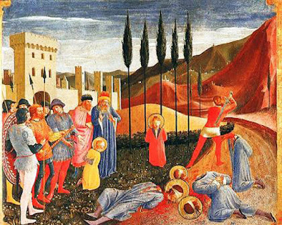 The martyrdom of Sts. Cosmas and Damian