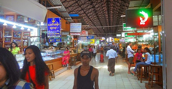 Main hall of Bogyoke Market Yangon