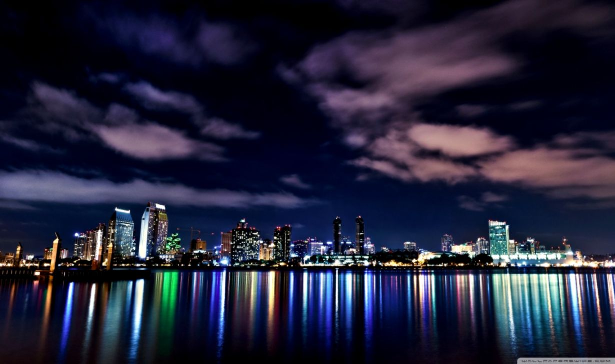 Skyline London At Night Hd Wallpaper Desktop Wallpapers Photos