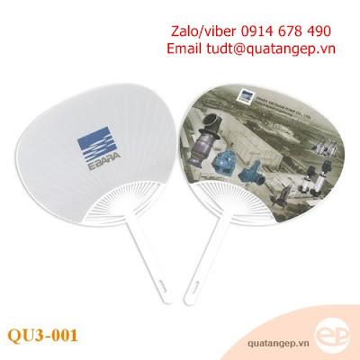 Thiết kế in ấn quạt nhựa quảng cáo, quạt nhựa PVC giá rẻ