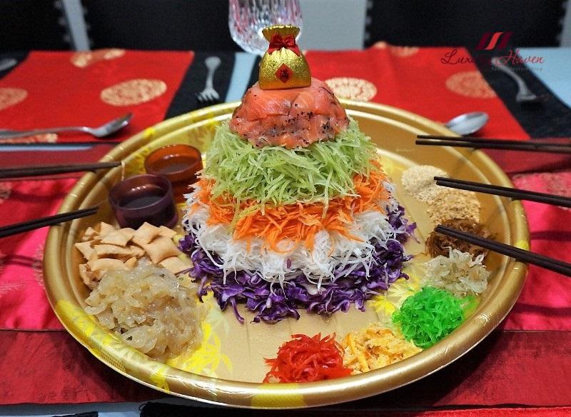 chinese spring festival cny reunion dinner prosperity lohei