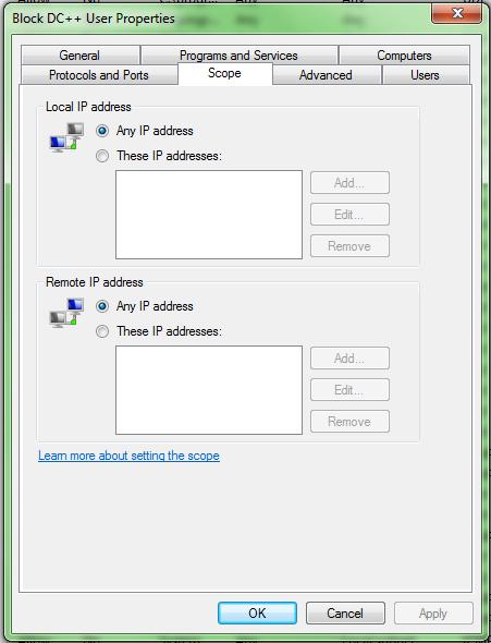 how to block folder firewall win 10