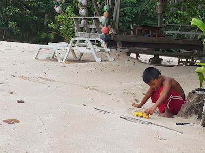 Chao Le Moken Tribe Child At Nui Beach Ko Lanta Thailand