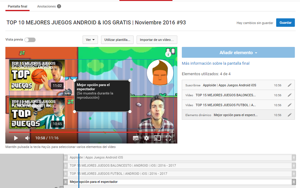 Pantallas finales de Youtube 1