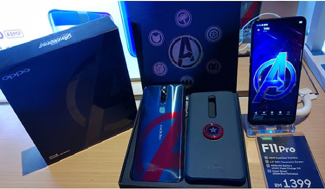 Best Popular OPPO F11 Pro Marvel's Avengers edition is currently on sale for RM1399