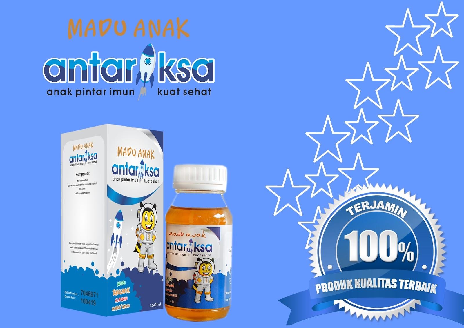 Vitamin Anak Madu Antariksa Latar Belakang Biru