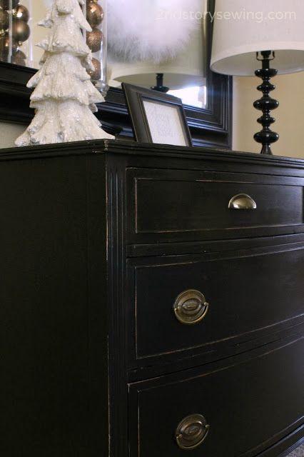 big black dresser