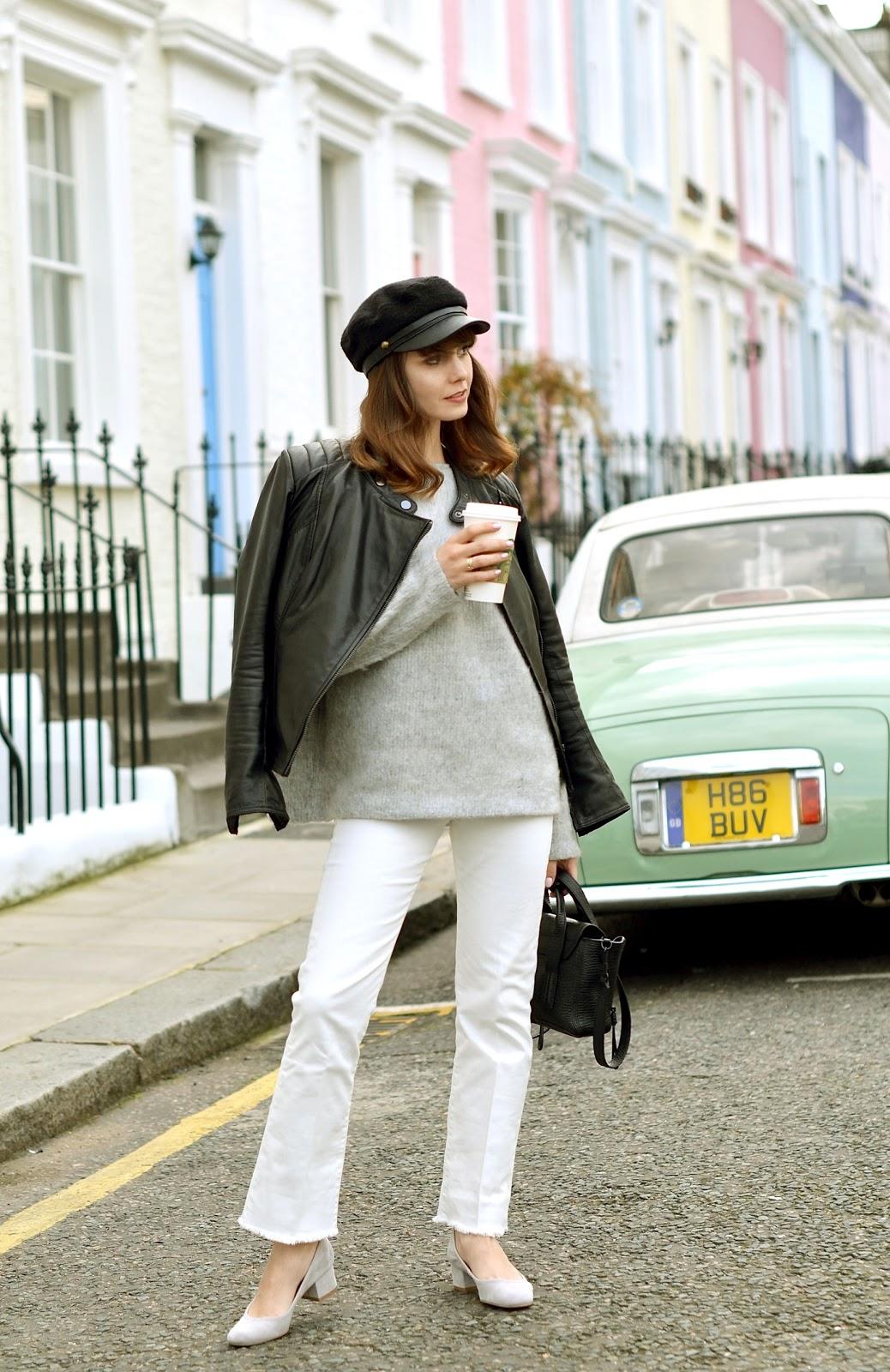 welniany sweter | blogi o modzie | blog modowy | blogerka modowa | londyn | biale spodnie