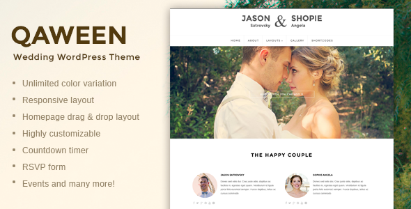Responsive WordPress Wedding Theme