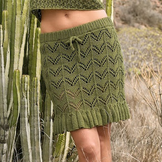 Ажурная юбка с воланом
