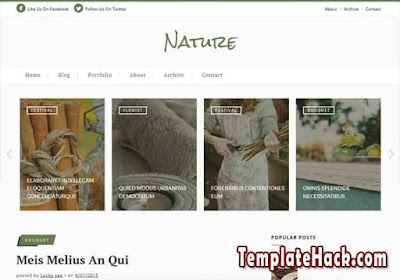 nature classic blogger template