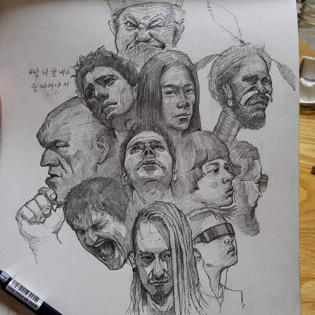 04-Yun-Ho-Kim-Expressions-in-Different-Pencil-Portrait-Styles-www-designstack-co
