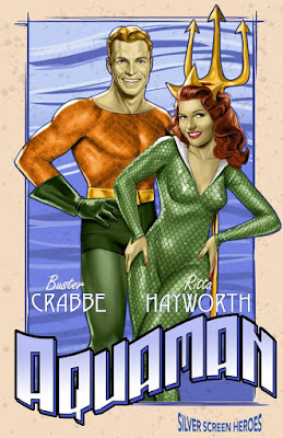 Aquaman featuring Buster Crabbe as the King of The Seven Seas and Rita Hayworth as his wife, Mera