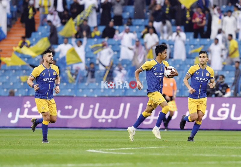 مقابلة النصر امام فريق الجيل ضمن اطار الدوري السعودي