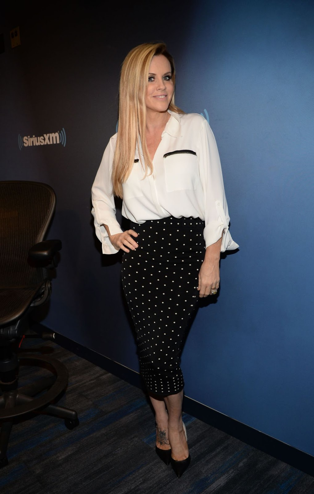 Ex-Playboy model Jenny Mccarthy at Siriusxm Studios NY City