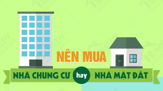 Nên chọn mua chung cư hay nhà riêng