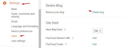 Cara Hapus Blog Secara Permanen