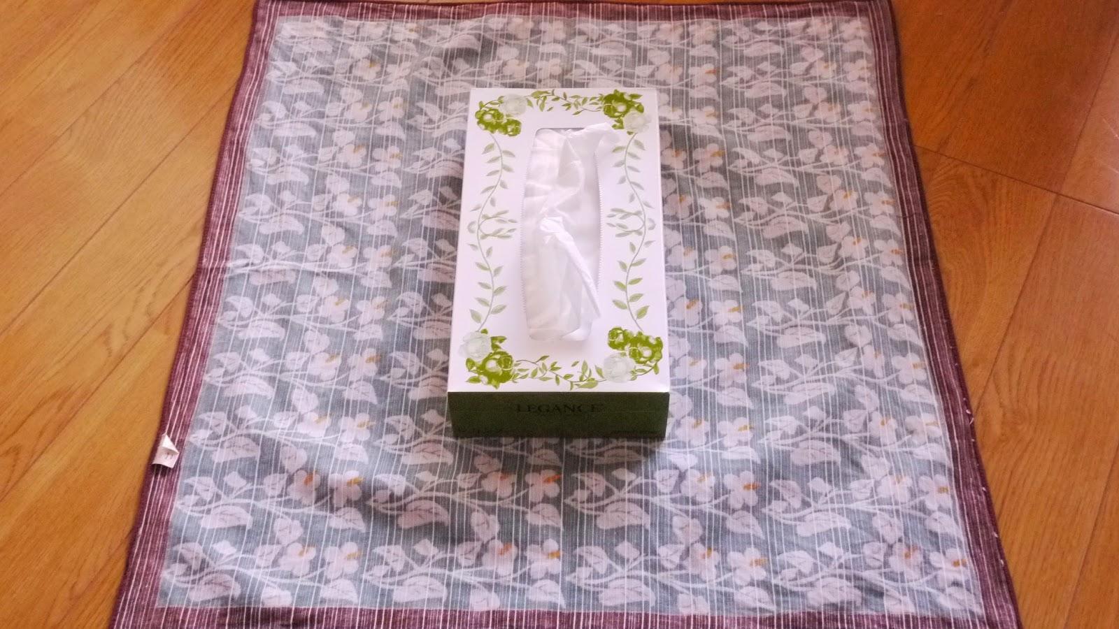 【日本禮法】使用風呂敷裝飾「面紙盒」(ティッシュ包み) @ MIYABI日本傳統文化