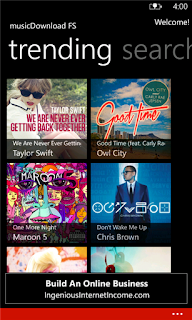 MusicDownload FS wp7 app