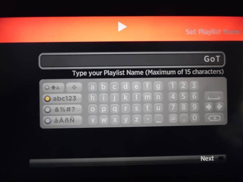 m3u Playlist Player Add a Name for your Playlist