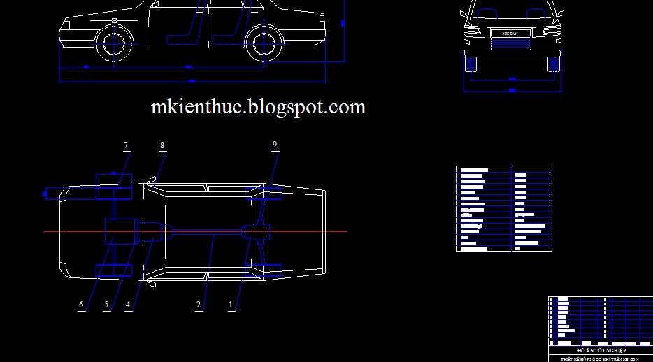 Bản vẽ đồ án tính toán thiết kế hộp số cơ khí trên xe con có ứng dụng CATIA và COSMOS