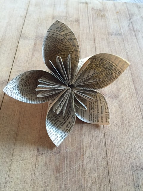 Origami Poinsettia Flower