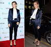 Vanessa Kirby swapped period costume for a slick suit on Thursday evening as she attended the BAFTA EE Rising Star Award party