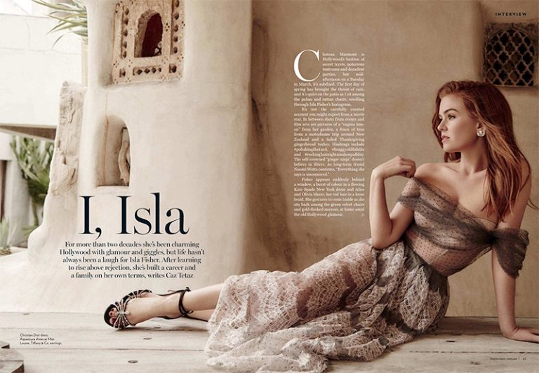 Isla Fisher for Marie Claire Australia July 2018