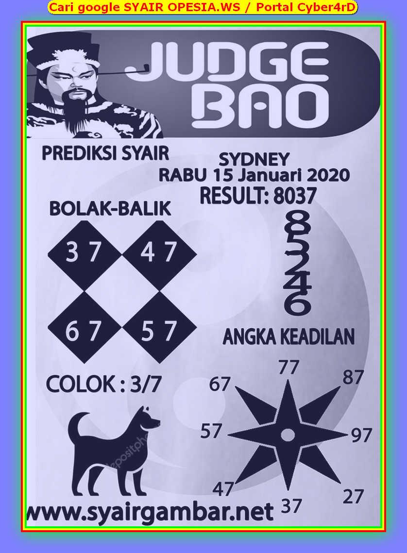 Kode syair Sydney Rabu 15 Januari 2020 47
