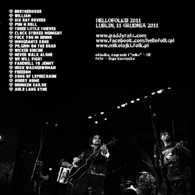 BOOTLEG - PADDY AND THE RATS Live in Lublin 11 December 2011