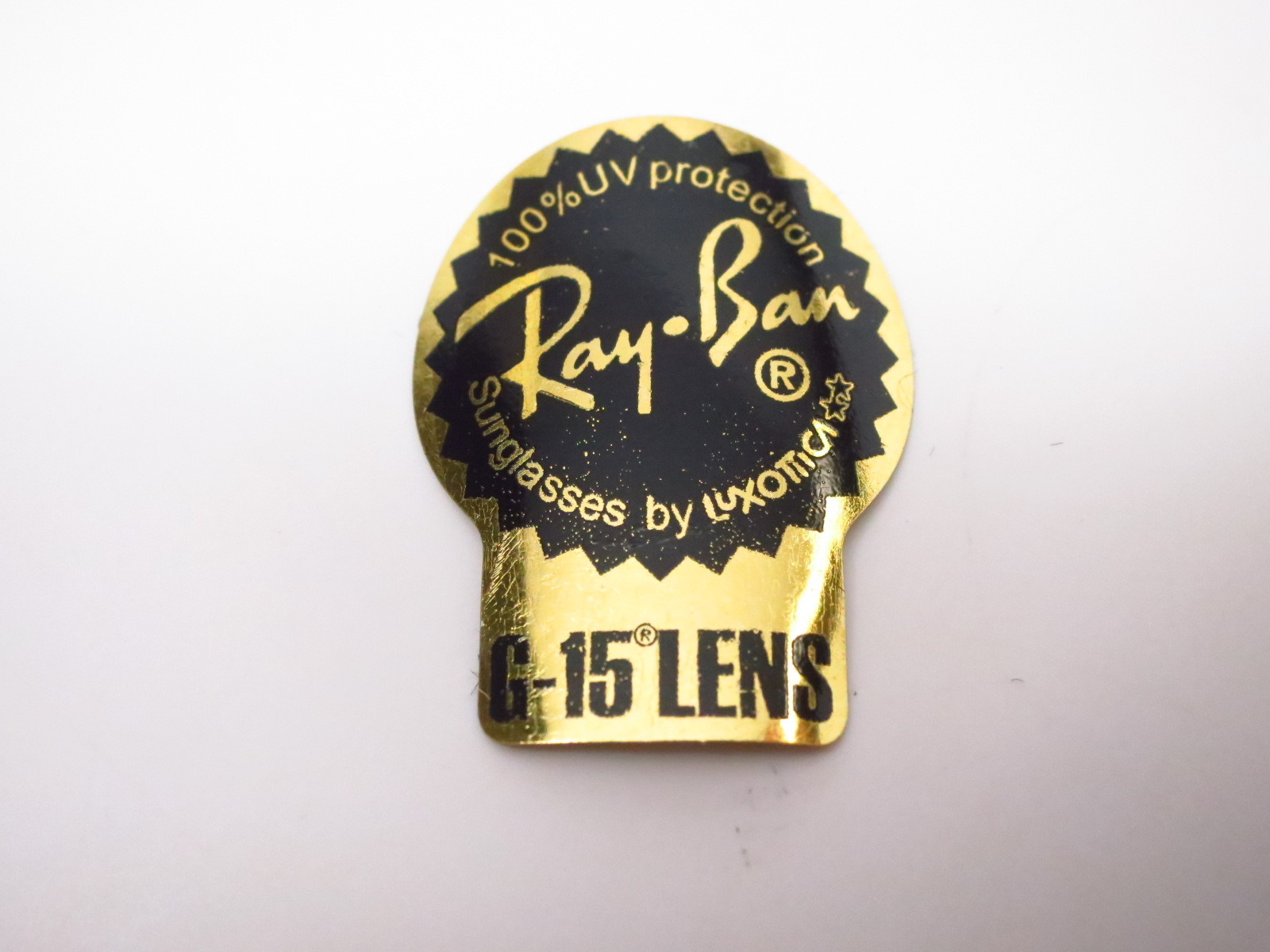3515e337b1 Ray-Ban Stickers on Sunglass Lenses