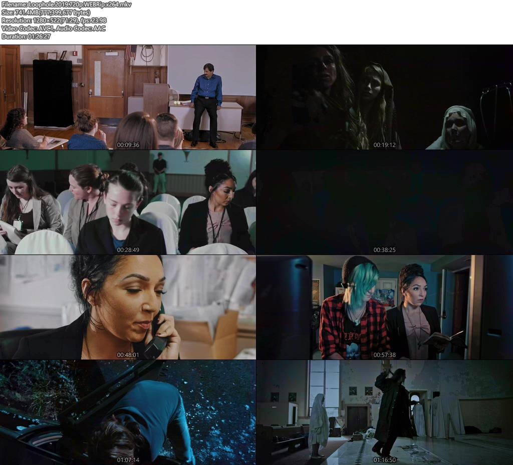Loophole 2019 720p WEBRip x264 | 480p 300MB | 100MB HEVC Screenshot