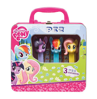 MLP PEZ Tin with Fluttershy, Rainbow Dash and Twilight Sparkle Dispensers