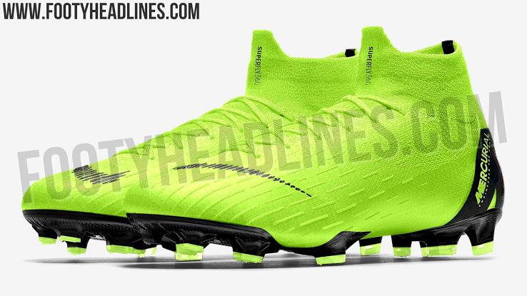 12059d56bdf6a Essa é a nova chuteira Nike mercurial na cor verde e com detalhes preto  desenhada e editada para o seu jogo de FTS.