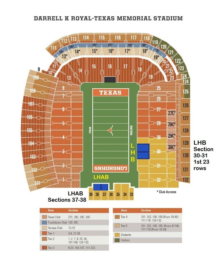 Texas Longhorn Football Stadium Seating Chart Arenda Stroy